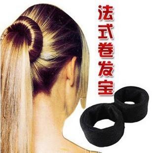 新款卷发棒花苞丸子头盘发工具法式盘发宝盘发器内有钢圈棒