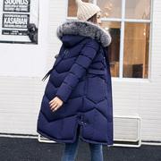 反季清仓冬装棉衣女中长款修身加厚大码大毛领棉服学生显瘦外套潮