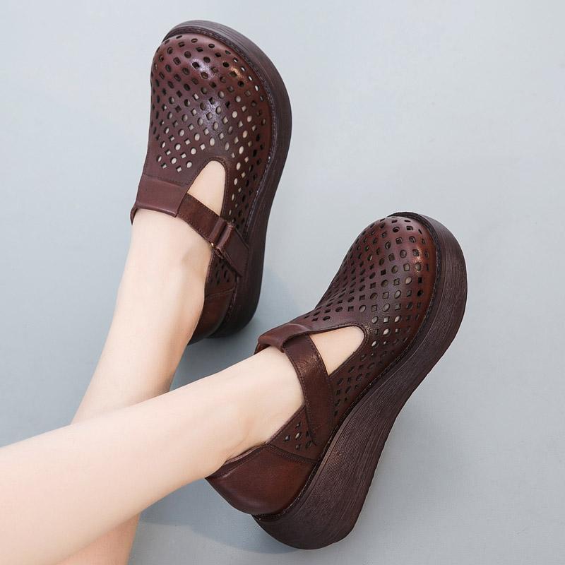 坡跟鞋女凉鞋春单