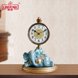 European silent seat Zhong Lisheng living room clock creative clock household quartz clock decorative pendulum table clock