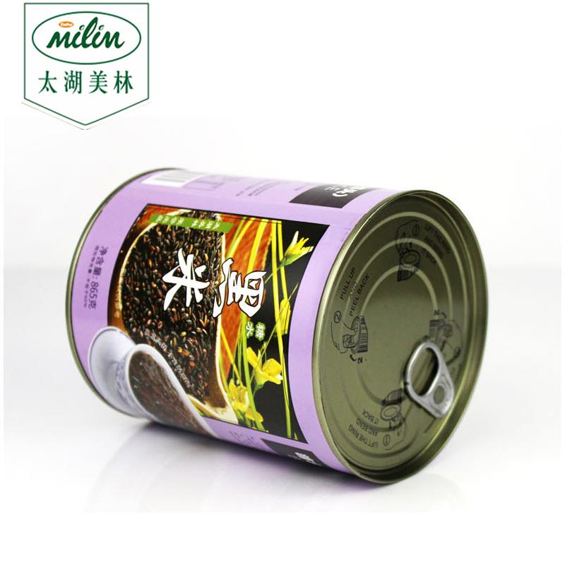 太湖美林黑米罐头865克 黑米糖水黑米奶茶专用 全国包邮 圣愿