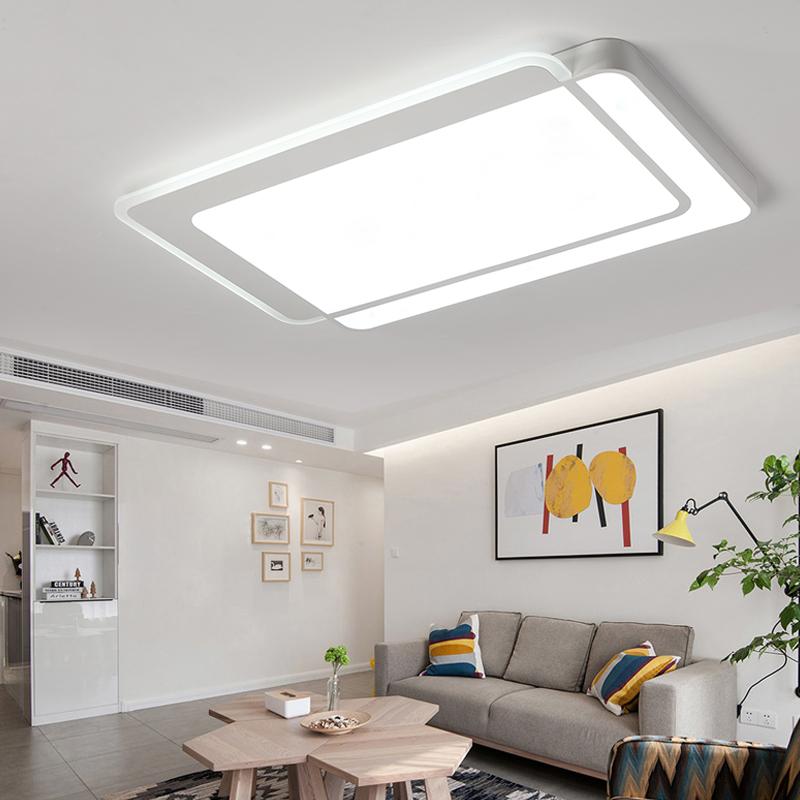 客厅灯简约现代大气家用长方形 led吸顶灯北欧创意卧室灯餐厅灯具1元优惠券