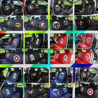 Tide brand US captain car seat cover cartoon spider man 哆啦 a dream car net red goddess four seasons car seat cushion