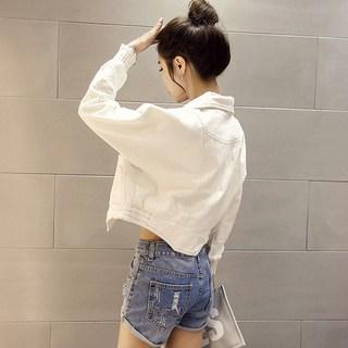 春秋韩版牛仔外套女2019新款女装短款宽松薄款长袖夹克春季上衣潮