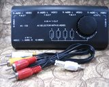 4 in 1 out AV switcher Audio video selector Audio-video switcher audio-video switcher AV-109