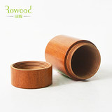 Japanese high-end portable creative mini trumpet travel portable wooden wooden solid wood mahogany tea can