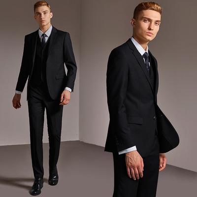 商务休闲正装西服套装男韩版青年修身款小西装单西男便西外套上衣