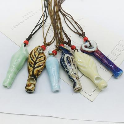 【口哨】景德镇陶瓷饰品窑变项链景点学校学生礼品记念品短款吊坠