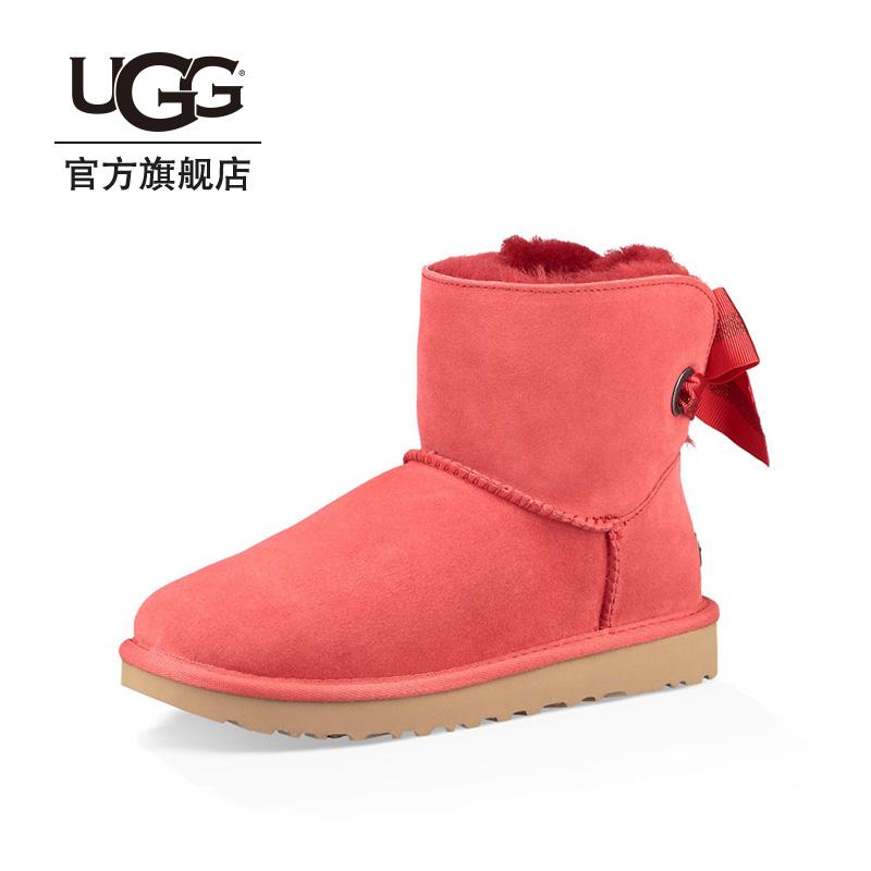 UGG2018冬季新款女士雪地靴经典新奇系列休闲蝴蝶结短靴 1100212