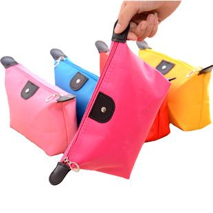 青柠化妆包小号防水饺子化妆包化妆品收纳包洗漱袋包中包手拿包