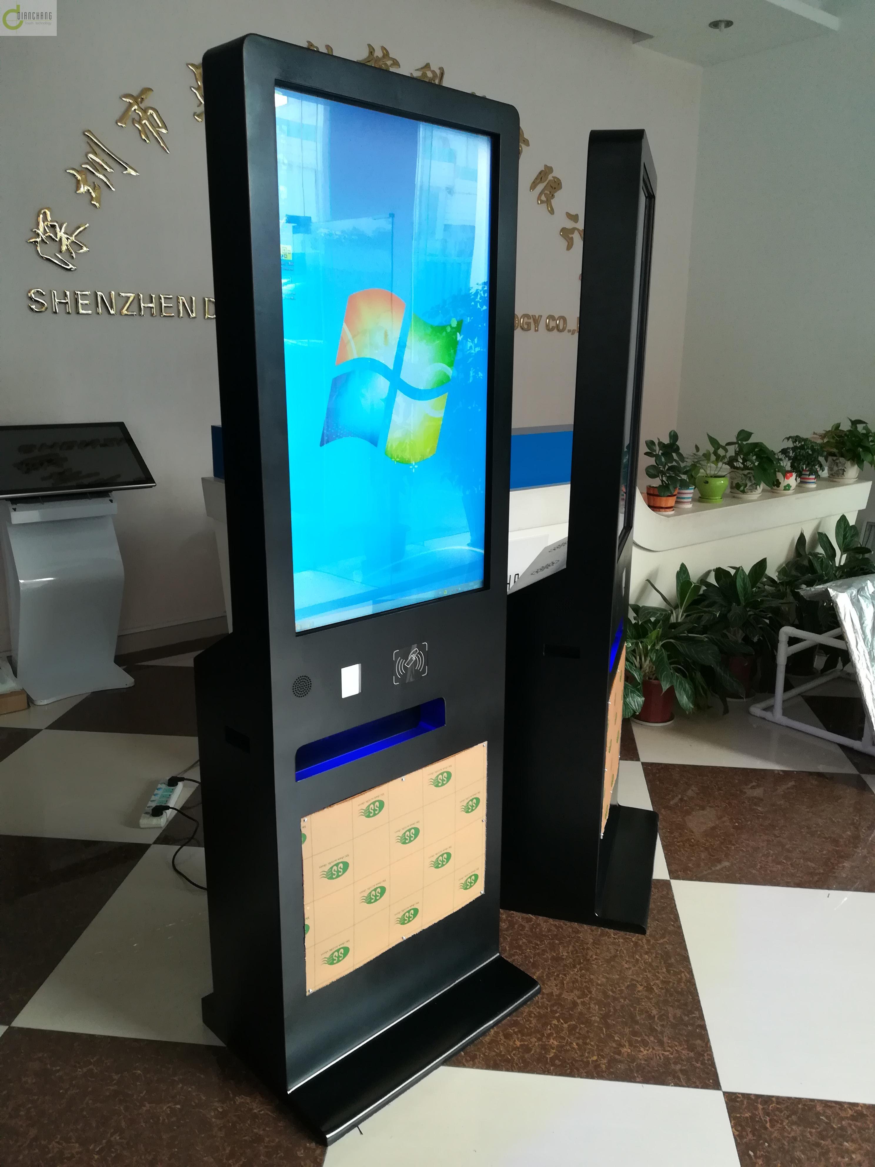 影院在线自动自助触摸屏售票机二维码扫描打印电影票灯箱广告宣传