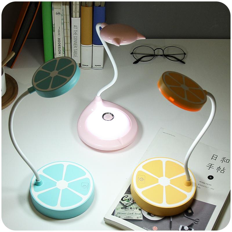 创意卡通卧室充电led台灯学生宿舍折叠床头调光护眼灯夹子小夜灯