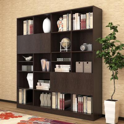 特价黑色书柜书架组合简约单个大书柜储物柜陈列架书橱置物架
