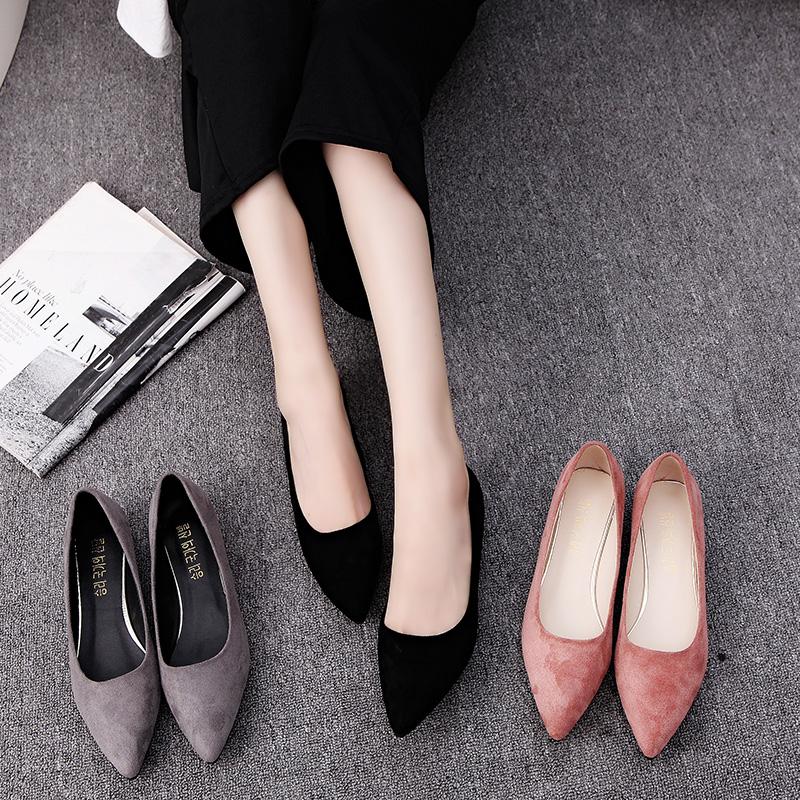 秋季粗低跟女鞋