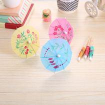 果签小伞签烟花签旗签鸡尾酒蛋糕装饰签一次性创意点心签包邮