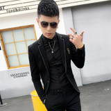 Spring and autumn men's casual suit youth Korean version of the tide handsome handsome body one-piece hairstylist small suit men's jacket