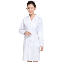 White coat long sleeve spring and summer doctor clothes nurse clothes autumn and winter short sleeve female experimental clothes pharmacy beauty salon overalls