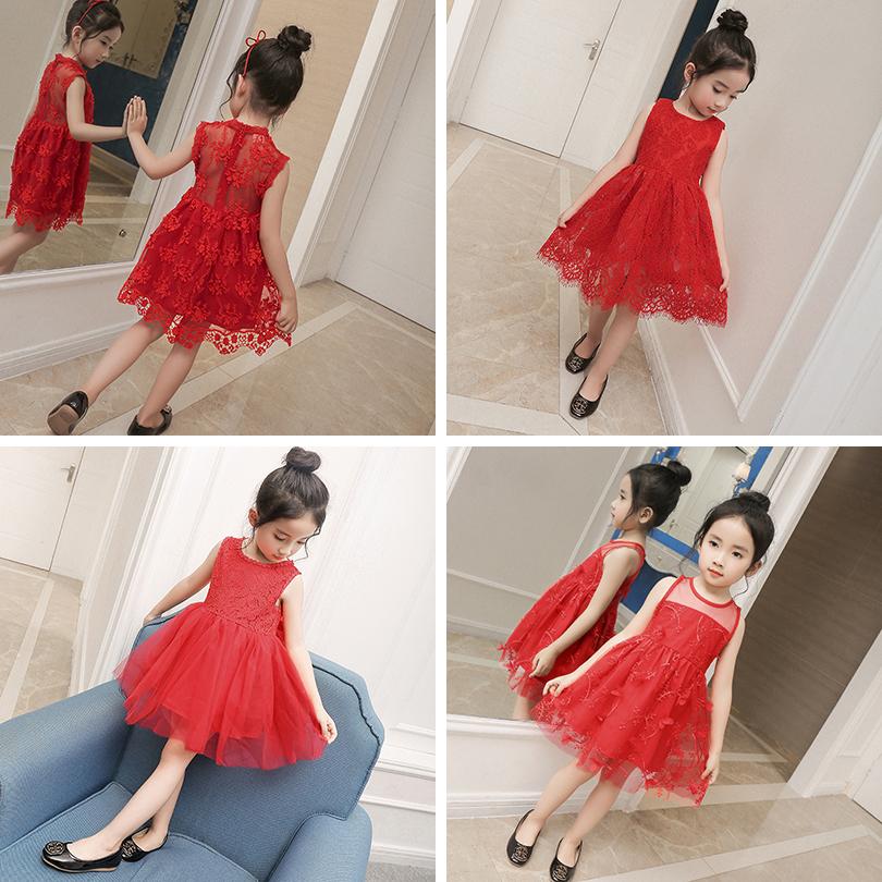 宝宝红色背心裙