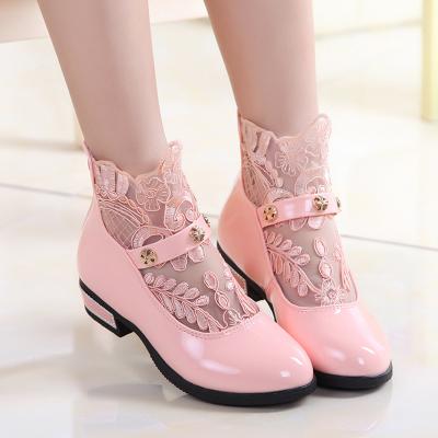 靴中筒蕾丝童
