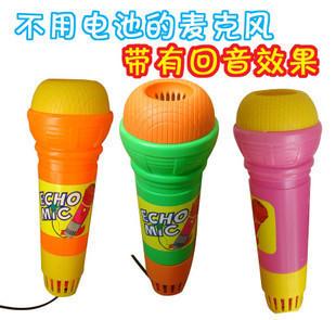 9.9元包邮 大号儿童仿真话筒 塑料麦克风玩具 通过回音学唱歌