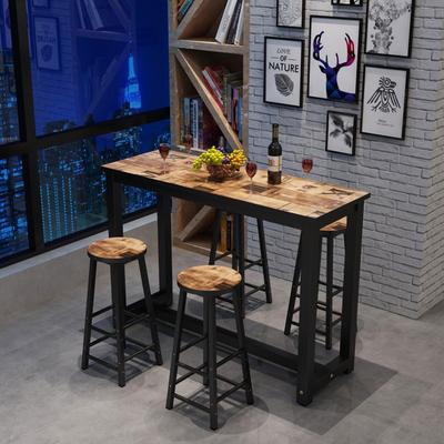 简约吧台桌家用个性餐桌创意简易桌椅组合咖啡桌酒吧桌高脚桌包邮哪里购买