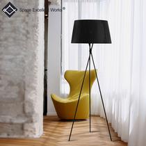 简约现代艺术床头卧室客厅现代简约落地灯创意布艺三脚落地灯包邮