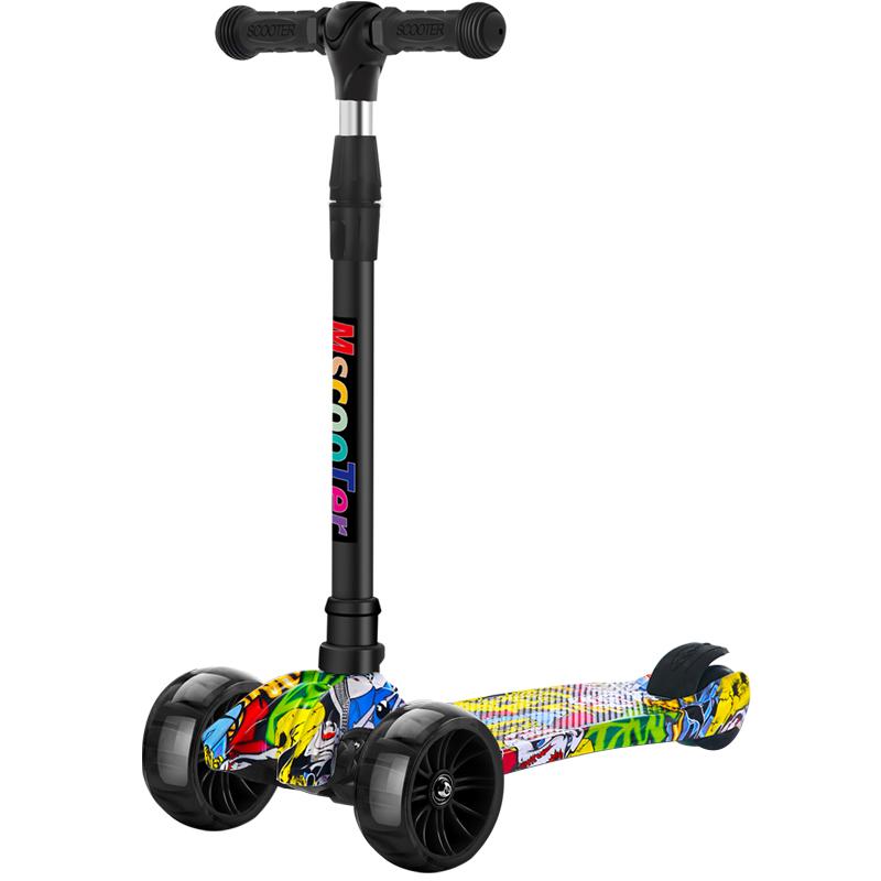 滑板车儿童1-3-6-12岁小孩踏板三合一滑滑男孩宝宝单脚5-10溜溜车