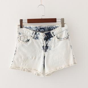 春夏季新款牛仔裤短裤高腰裤百搭休闲修身显瘦时尚磨白水洗热裤