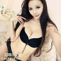 2018 spring and summer new Lala goddess wedding dress invisible sexy bra straps chest stickers swimming pull rope underwear