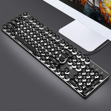 Xinmeng really mechanical touch keyboard game eat chicken computer desktop notebook wired usb home office metal punk retro backlight lighting external peripheral shop Internet cafe cf cf net red