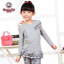 女童童装 长袖 131015 T恤儿童打底衫 2014秋装 韩版 新款 韩维妮
