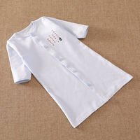 Infant children's cotton long-sleeved dressing gowns Men and women baby tummy pajamas Children's children's robes nightdresses spring and autumn