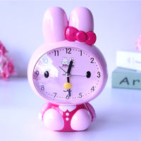 Children's cute cartoon voice can talk alarm table creative luminous mute bedside student music snooze small alarm clock