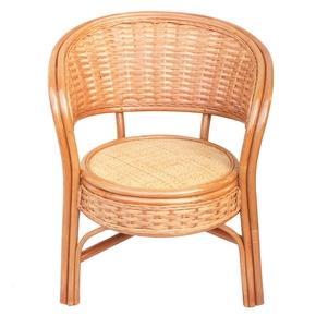 藤休闲椅 家用单人圆形靠背腾椅子组合老年花园滕编家具 单个藤椅