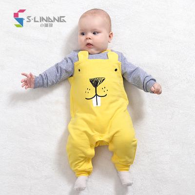 小琳琅春秋季新生婴儿连体衣服男女宝宝可爱动物造型哈衣外出服