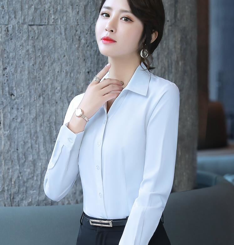 秋季白衬衫女长袖职业正装韩范.