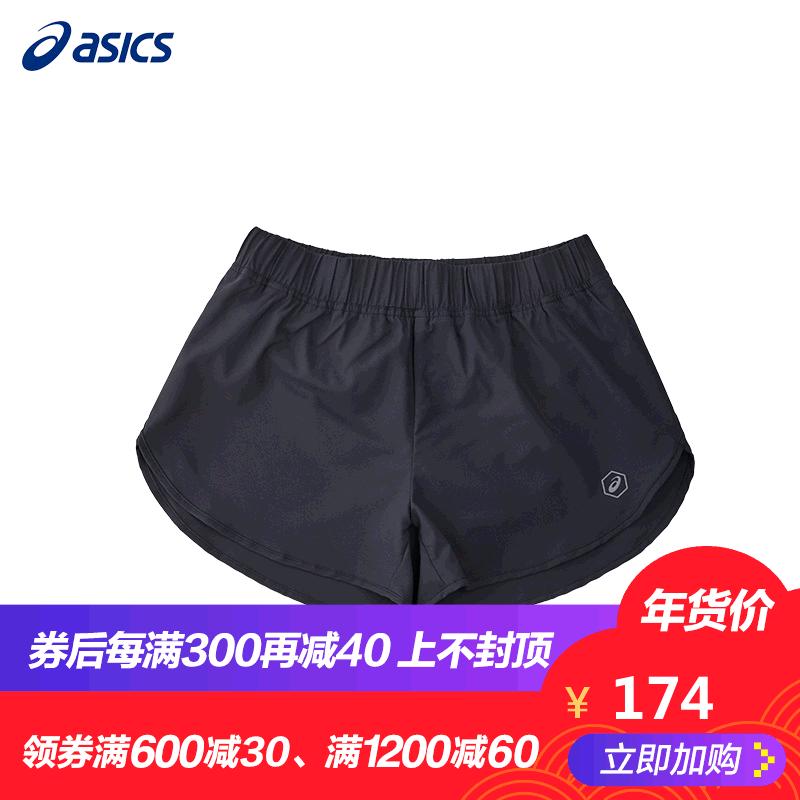 ASICS/亚瑟士 女式宽松运动裤 弹性跑步健身短裤 817H00