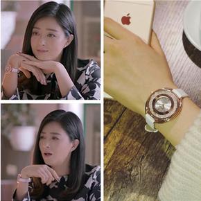 时尚装饰手表女学生韩版简约白带气质女表 欢乐颂2蒋欣同款石英表