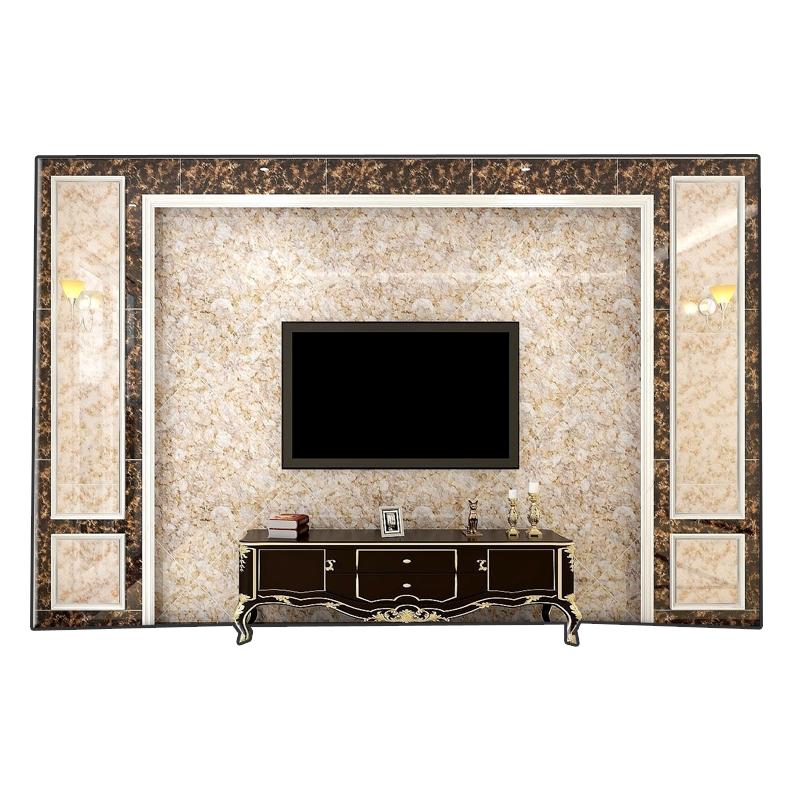 佛山瓷砖精工玉石爆米花奢华微晶石电视背景墙新款彩晶石高档地砖