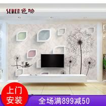 立体客厅卧室玫瑰花墙纸无缝大型壁画3d5d现代简约电视背景墙壁纸