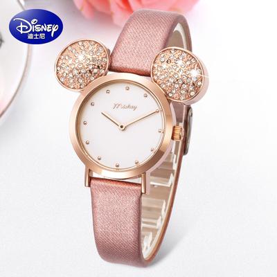 迪士尼女童手表防水小學生