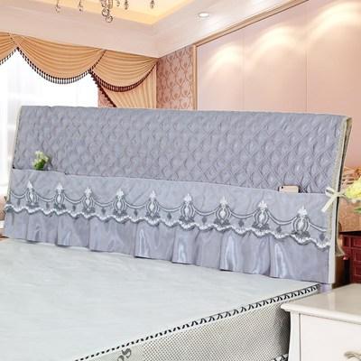 軟包床頭罩床頭套防塵罩夾棉全包木皮床保護套1.5m1.8m床頭板布罩