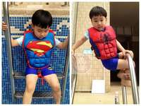 Sun protection floating vest buoyancy learning swimwear children life jacket snorkeling suit drifting learning swimming swimwear