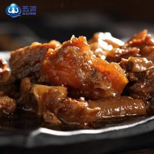 五洲牛肉浓汤筋头巴脑牛板筋牛腩牛蹄筋熟食火锅300g