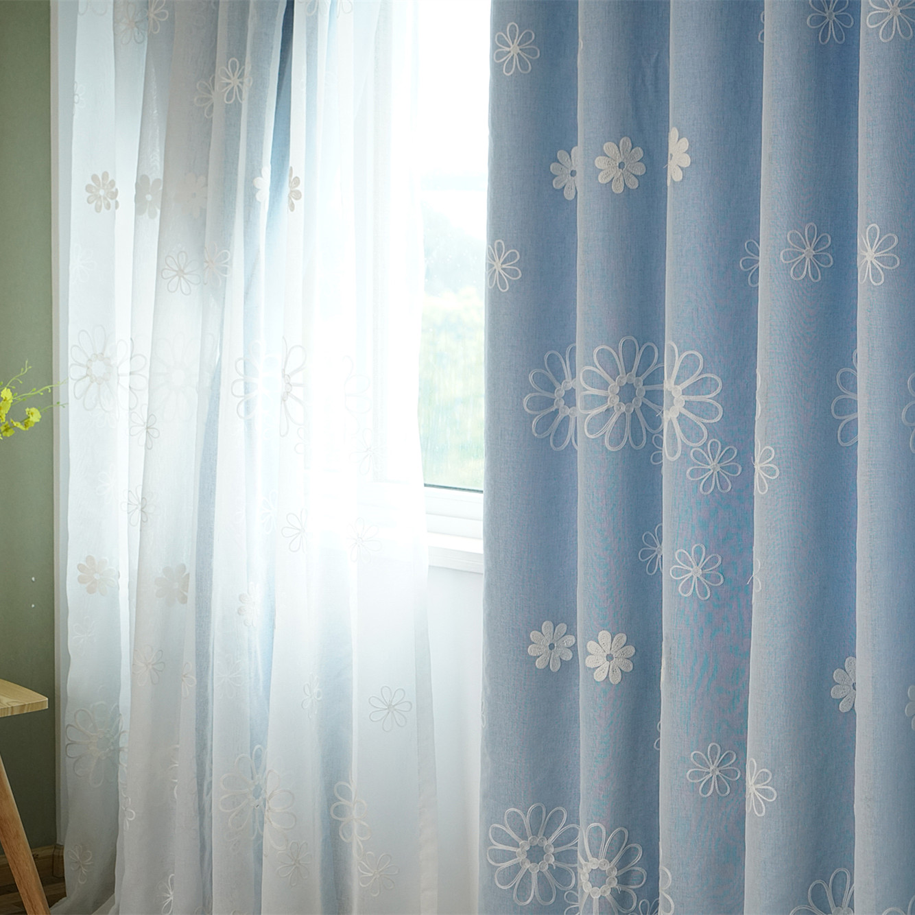 书房双层窗帘