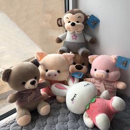 精品抓娃娃机里的布娃娃公仔夹机小号毛绒玩具批活动礼品9.9元图片