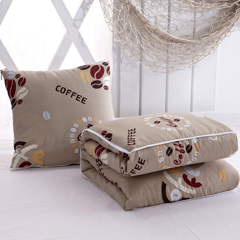 卡通两用抱枕被子办公室午睡枕多功能可折叠汽车靠垫靠枕空调被子