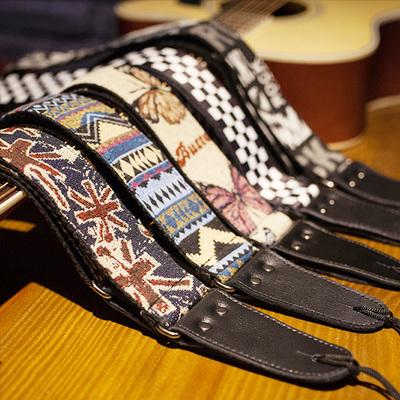 个性民谣吉他背带 加宽吉他带子电吉他背带 贝斯/木吉他肩带皮头性价比高吗