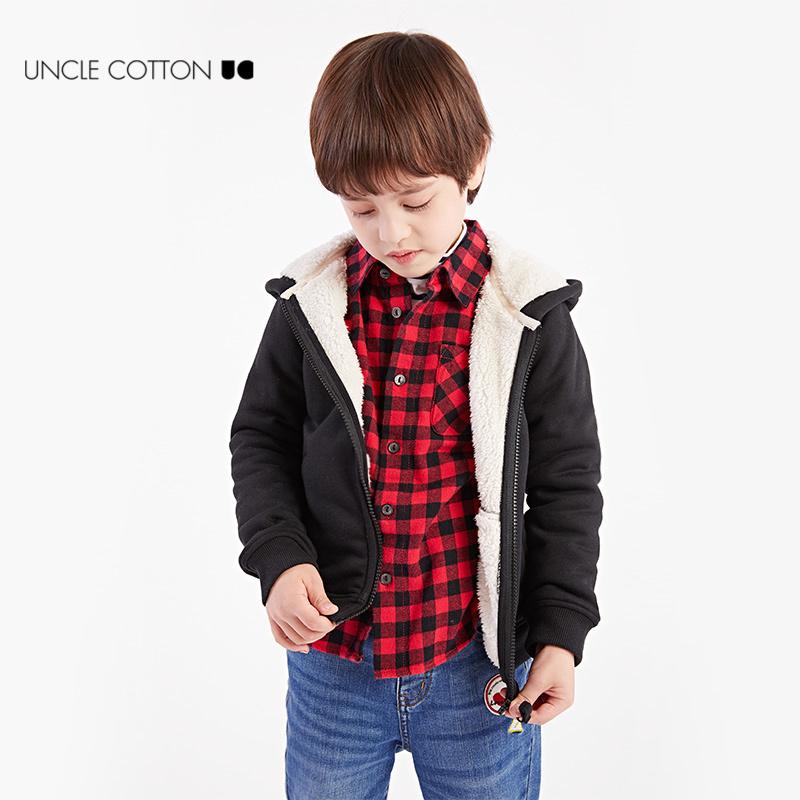 男童加羊羔绒卫衣