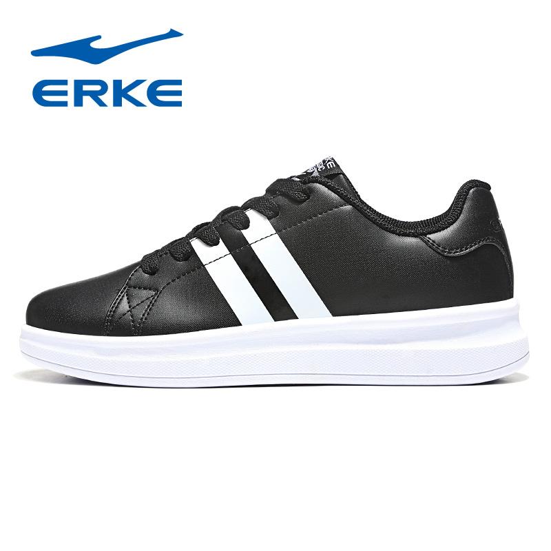 鸿星尔克女鞋小白鞋2019新款鞋子时尚滑板运动鞋女休闲鞋白色板鞋